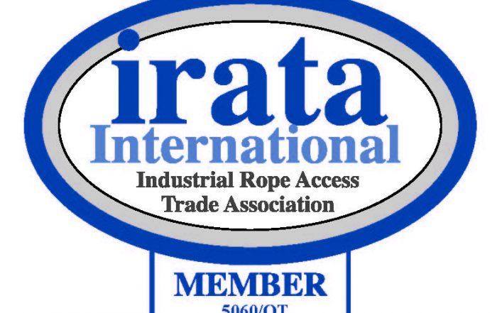 Logotipo formacion IRATA. Trabajos verticales